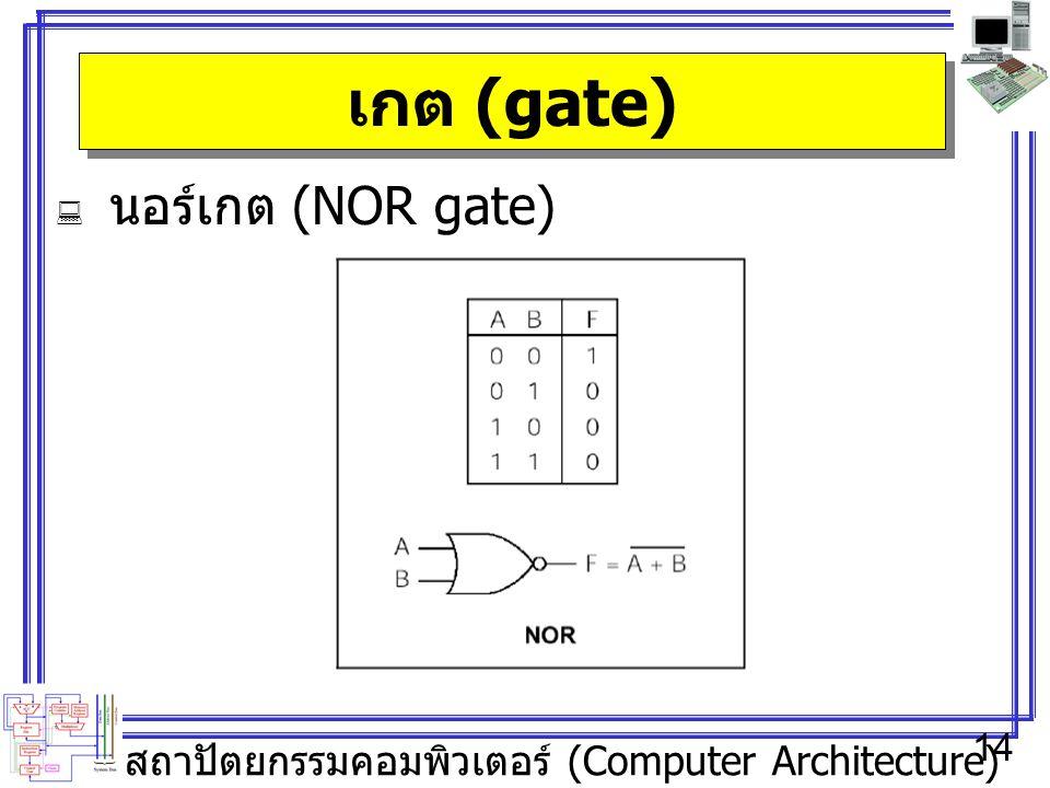 เกต (gate) นอร์เกต (NOR gate)
