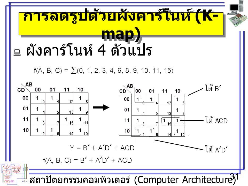 การลดรูปด้วยผังคาร์โนห์ (K-map)