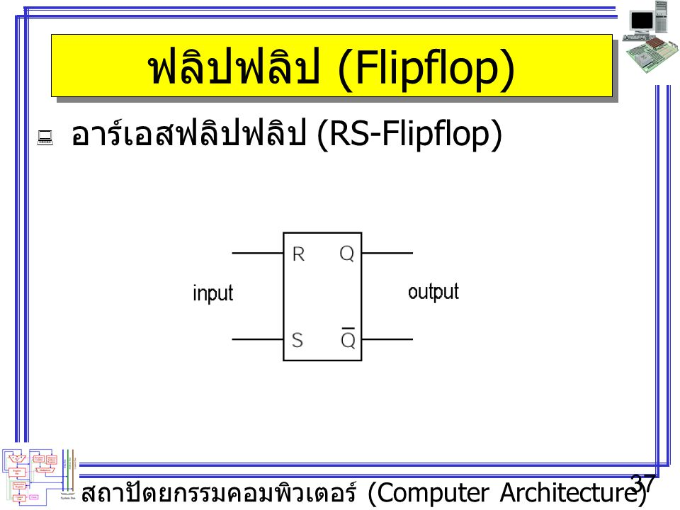 ฟลิปฟลิป (Flipflop) อาร์เอสฟลิปฟลิป (RS-Flipflop)