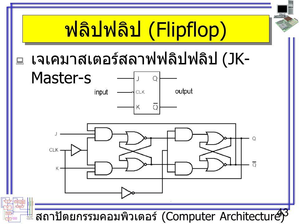 ฟลิปฟลิป (Flipflop) เจเคมาสเตอร์สลาฟฟลิปฟลิป (JK-Master-slave Flipflop)