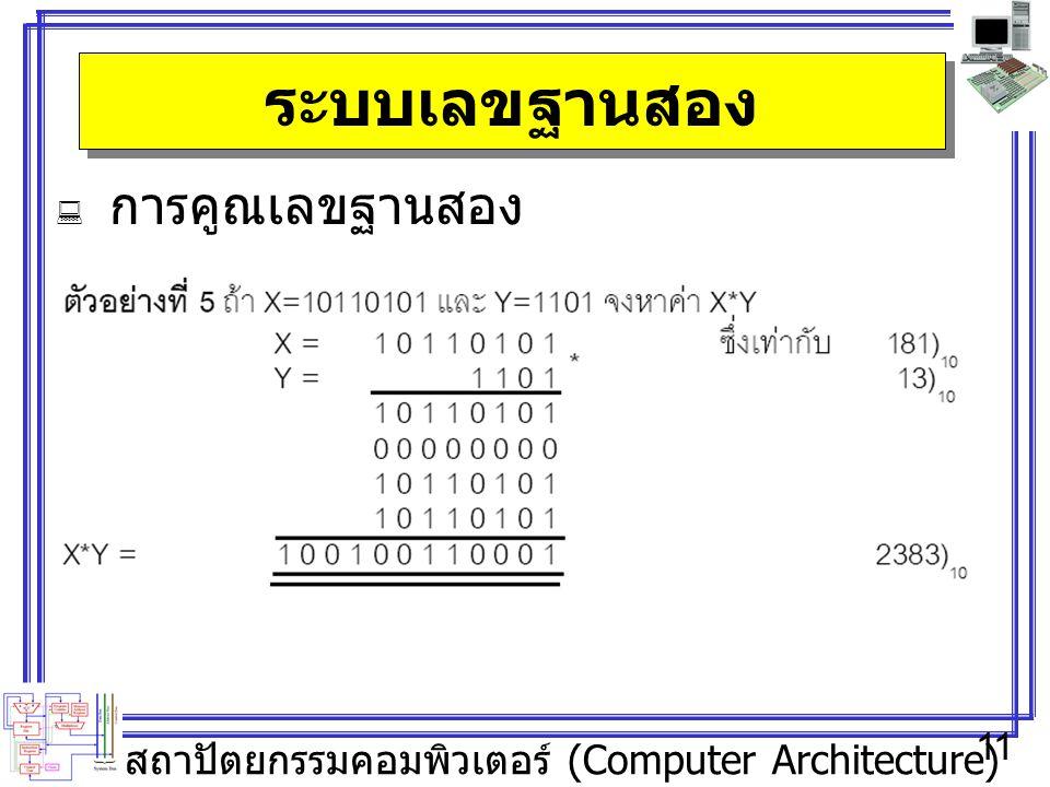 ระบบเลขฐานสอง การคูณเลขฐานสอง