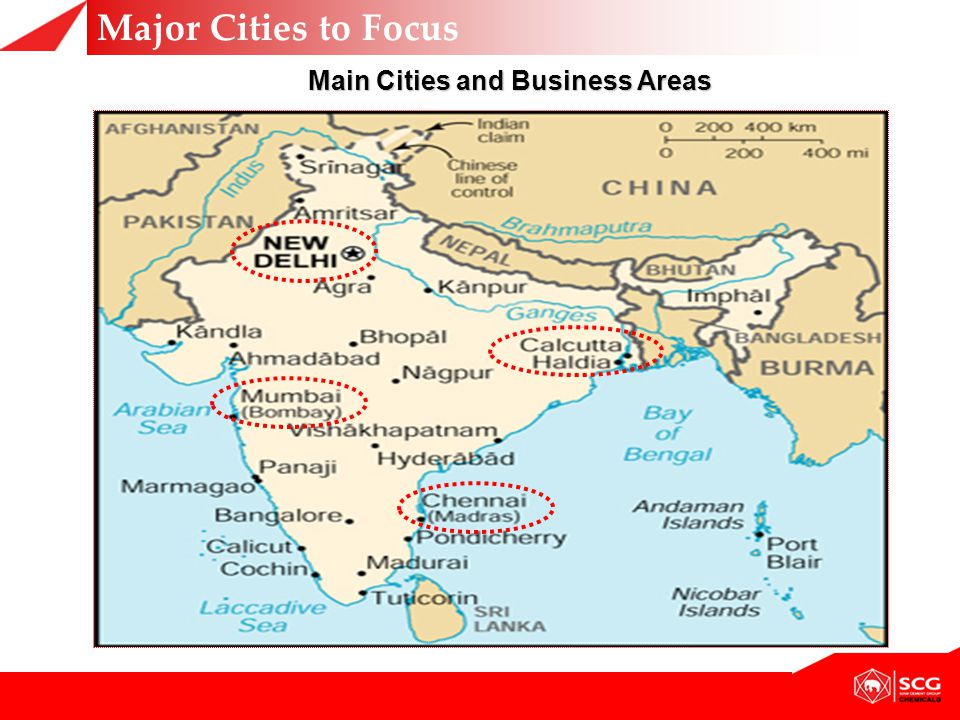 Main Cities and Business Areas