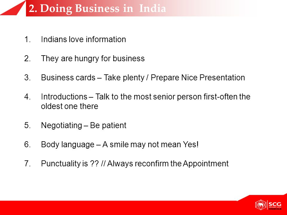 2. Doing Business in India