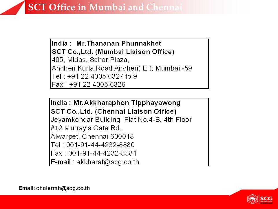 SCT Office in Mumbai and Chennai