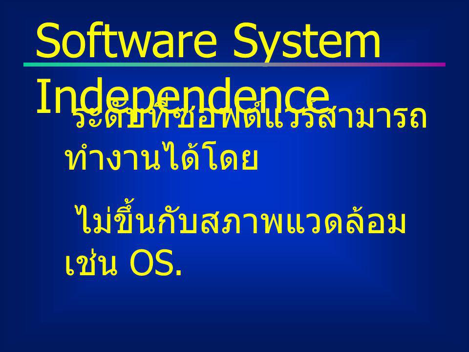 Software System Independence