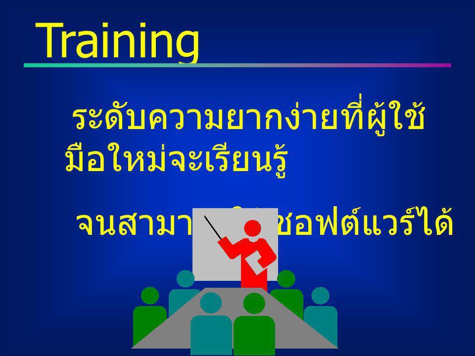 Training จนสามารถใช้ซอฟต์แวร์ได้