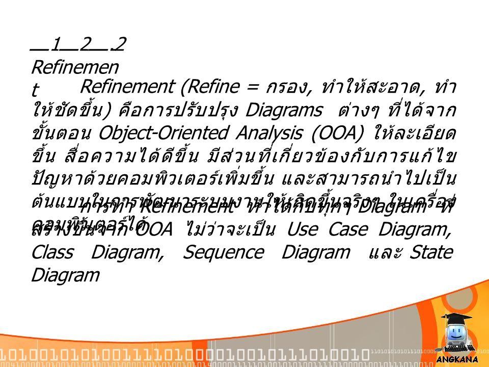 12.2 Refinement