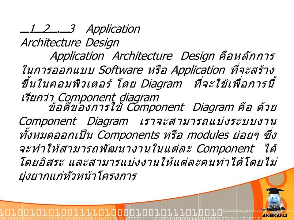 12.3 Application Architecture Design