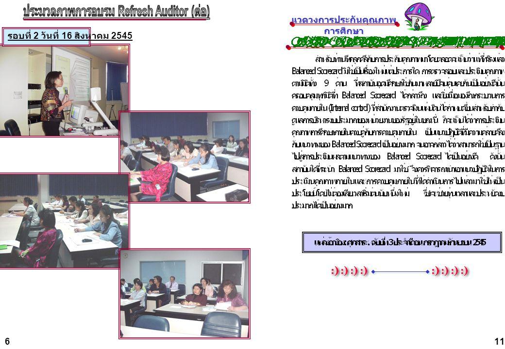 ประมวลภาพการอบรม Refresh Auditor (ต่อ) แวดวงการประกันคุณภาพการศึกษา