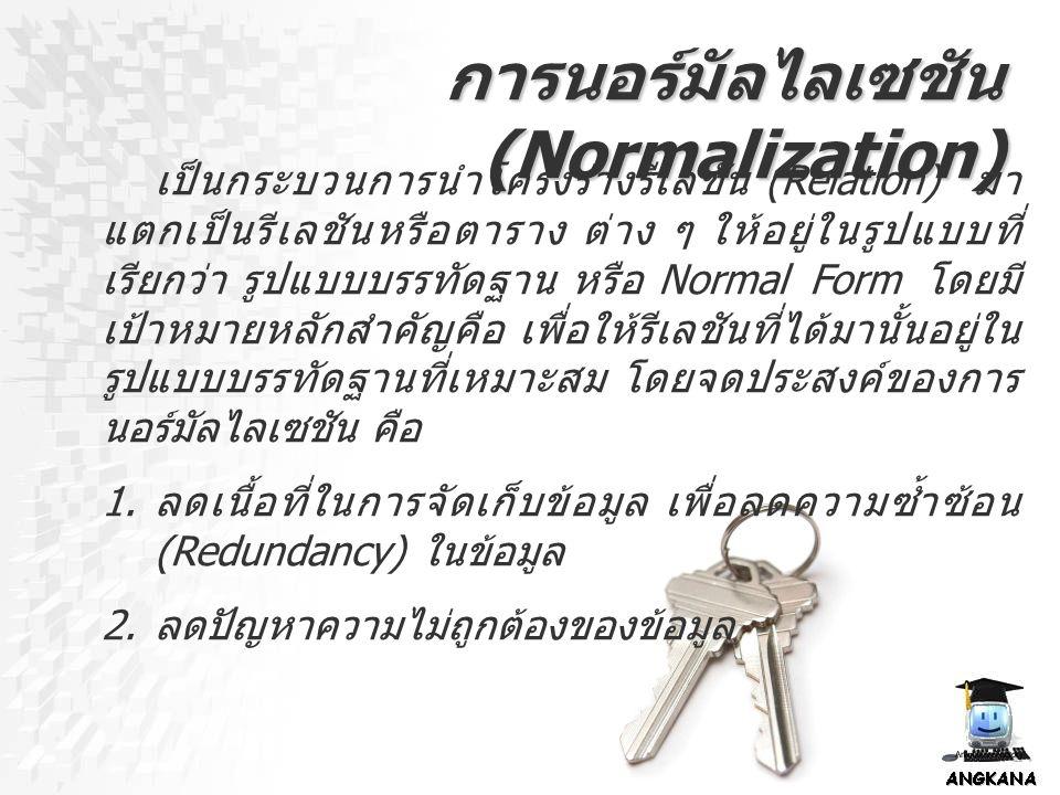 การนอร์มัลไลเซชัน (Normalization)
