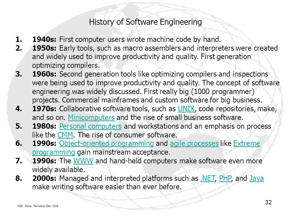 History of Software Engineering