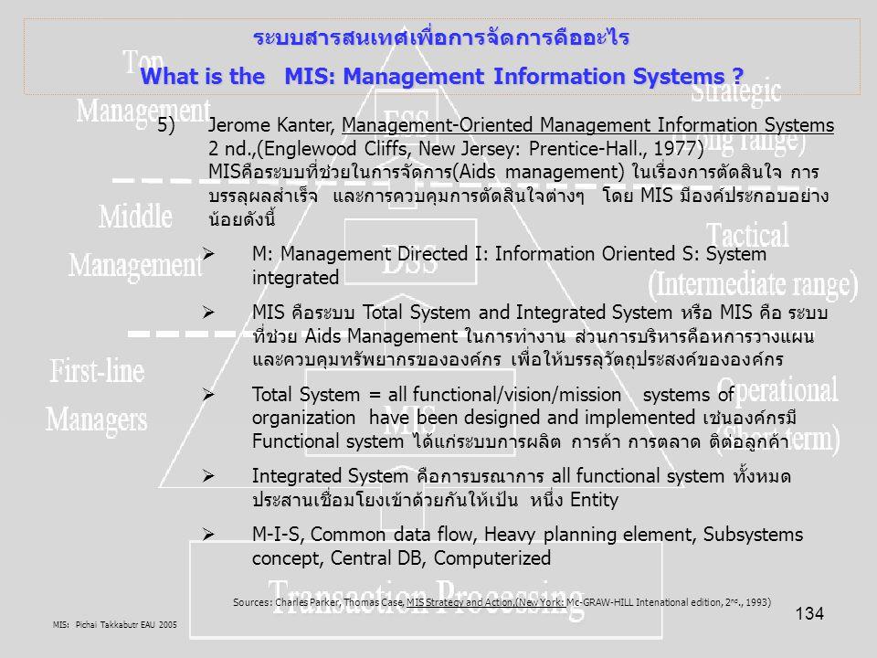 ระบบสารสนเทศเพื่อการจัดการคืออะไร