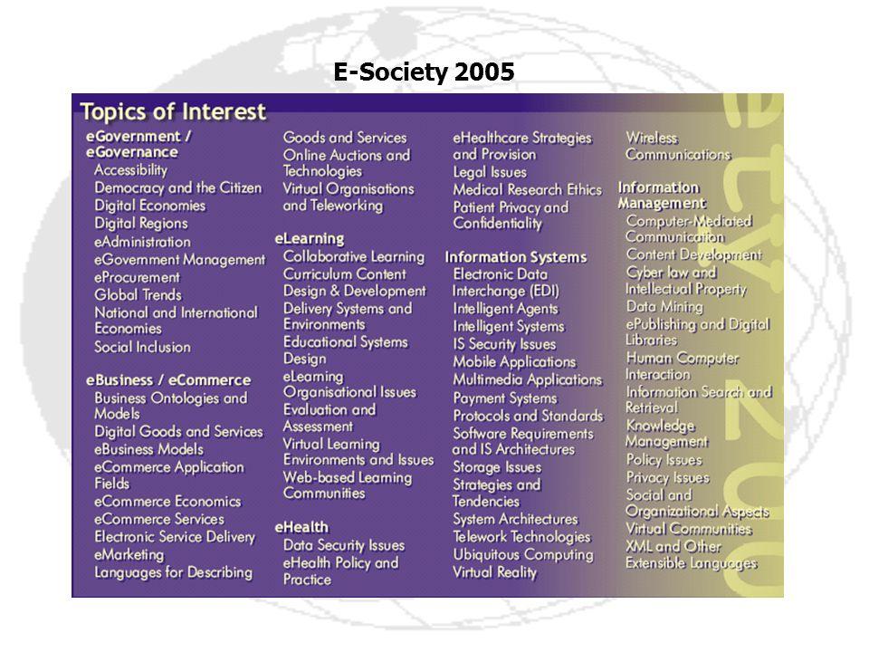 E-Society 2005