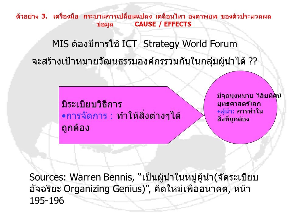 MIS ต้องมีการใช้ ICT Strategy World Forum