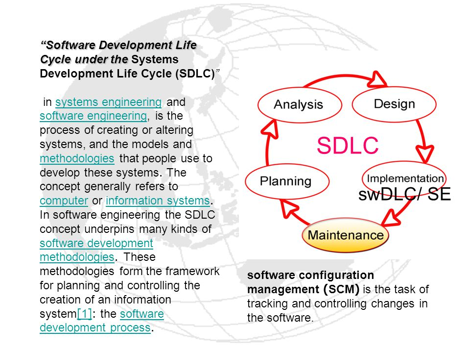 Software Development Life Cycle under the Systems Development Life Cycle (SDLC)