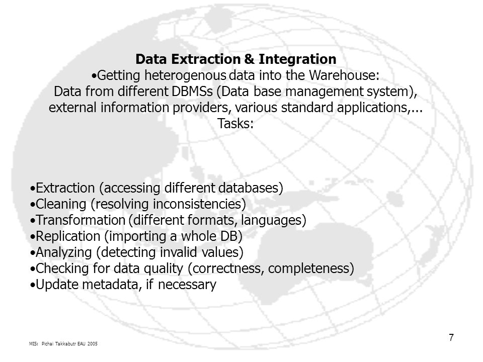 Data Extraction & Integration