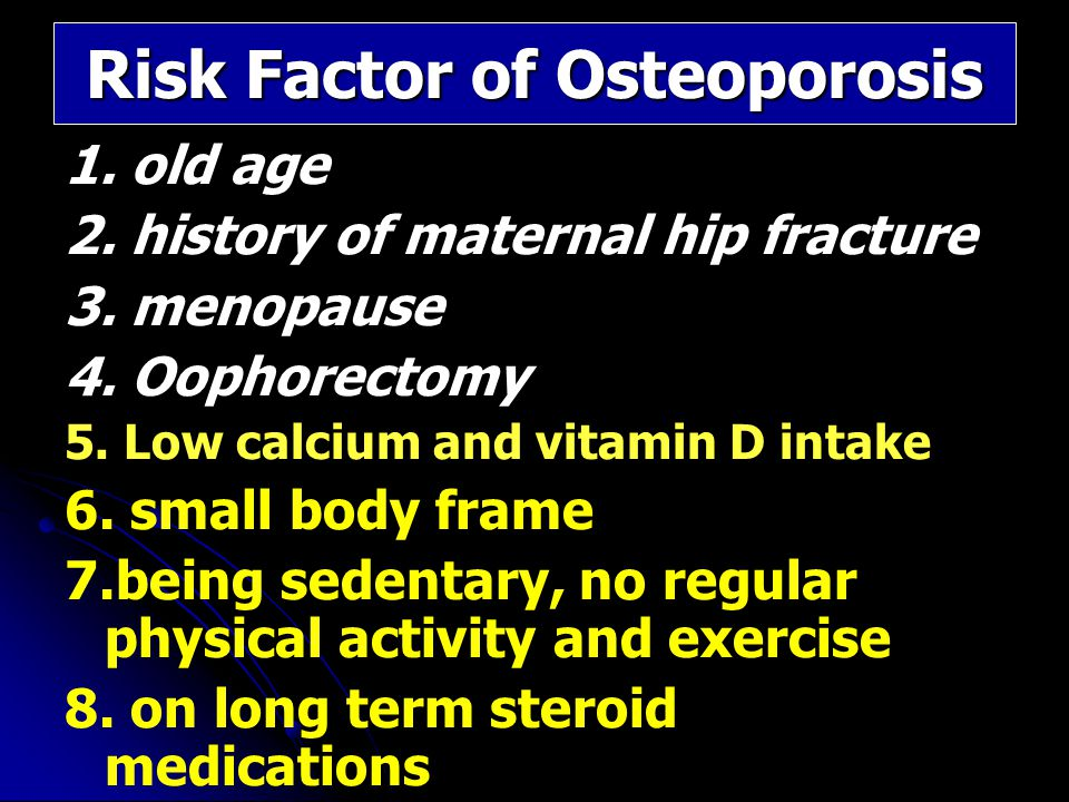 Risk Factor of Osteoporosis