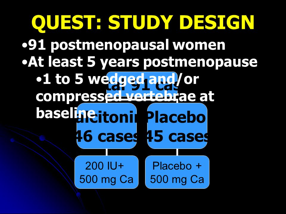 QUEST: STUDY DESIGN 91 postmenopausal women