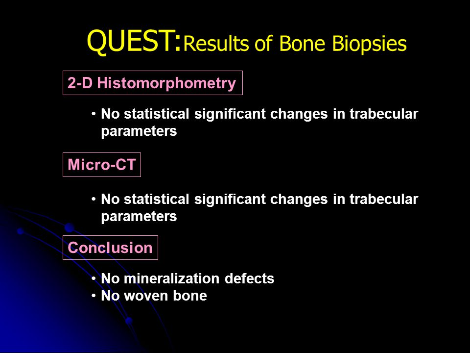 QUEST:Results of Bone Biopsies