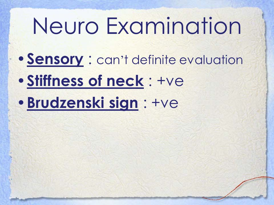 Neuro Examination Sensory : can't definite evaluation