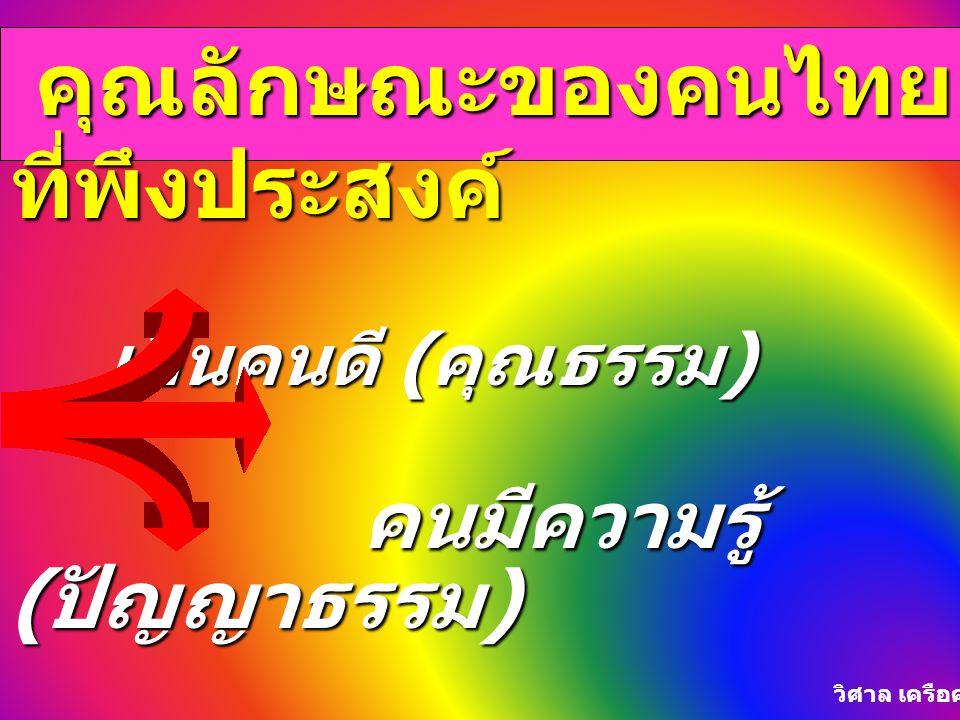คุณลักษณะของคนไทยที่พึงประสงค์