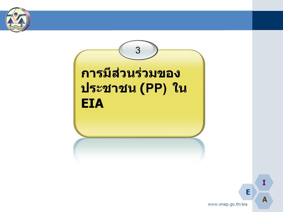 การมีส่วนร่วมของประชาชน (PP) ใน EIA