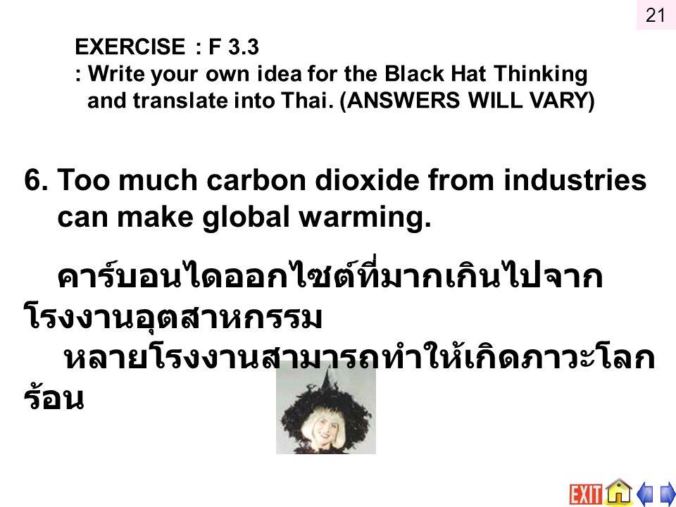 หลายโรงงานสามารถทำให้เกิดภาวะโลกร้อน