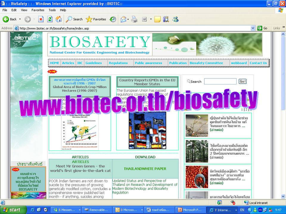 www.biotec.or.th/biosafety