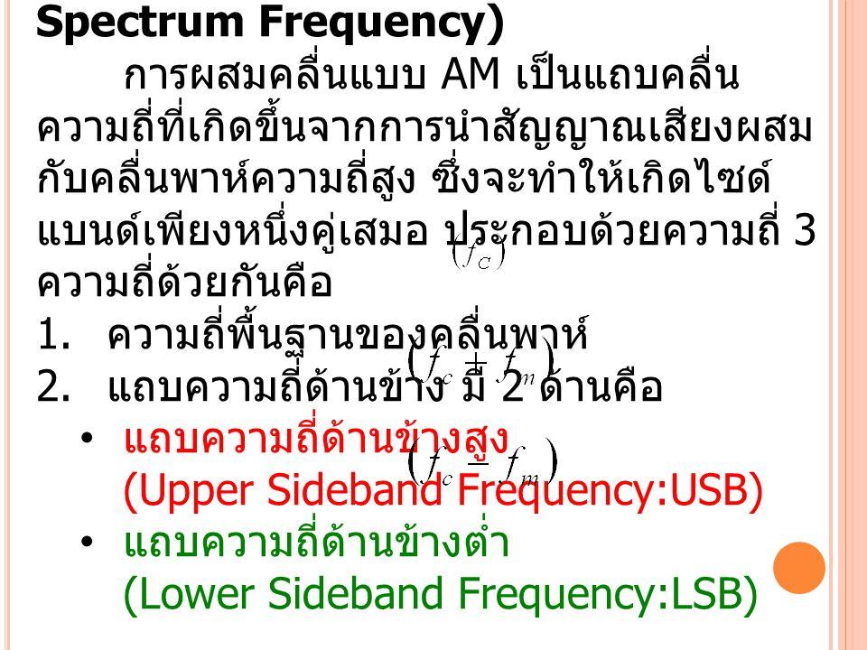 สเปกตรัมความถี่ของคลื่นเอเอ็ม (AM Spectrum Frequency)