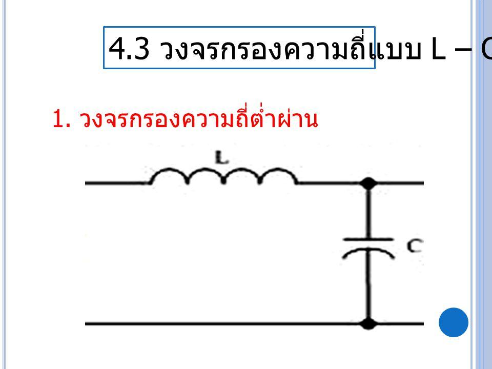 4.3 วงจรกรองความถี่แบบ L – C