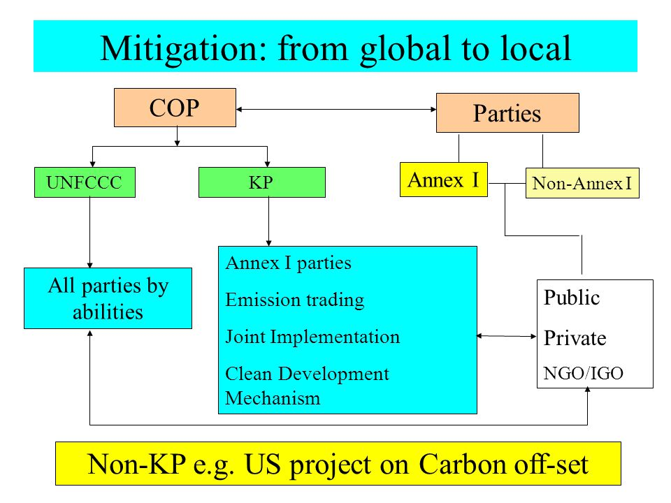 Mitigation: from global to local