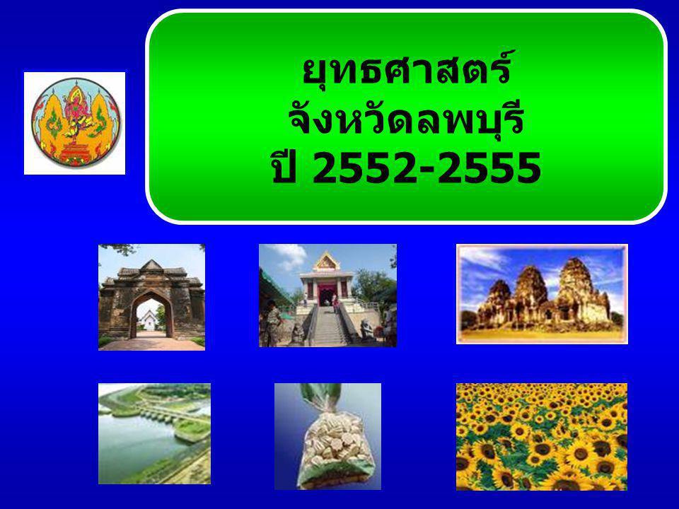 ยุทธศาสตร์ จังหวัดลพบุรี ปี 2552-2555