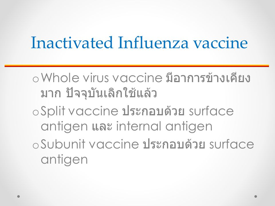 Inactivated Influenza vaccine