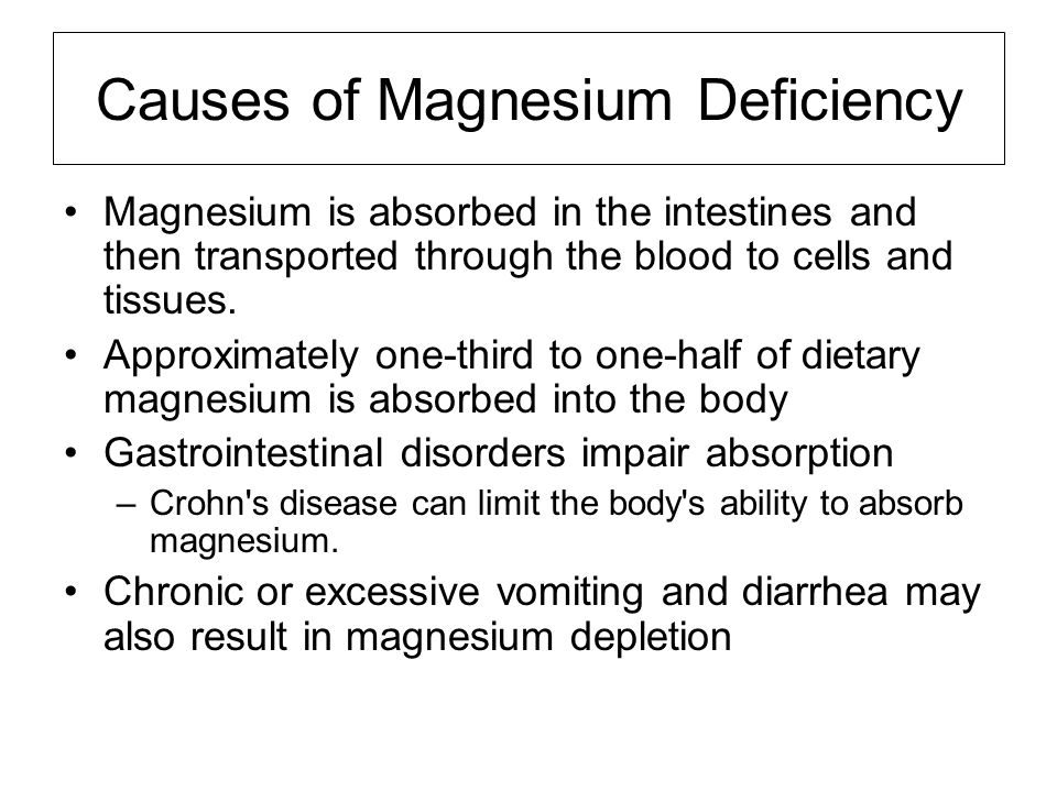 Causes of Magnesium Deficiency