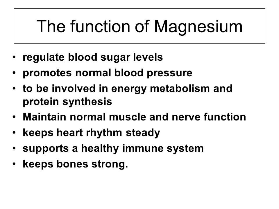 The function of Magnesium