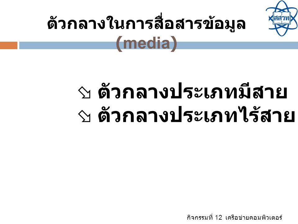 ตัวกลางในการสื่อสารข้อมูล(media)