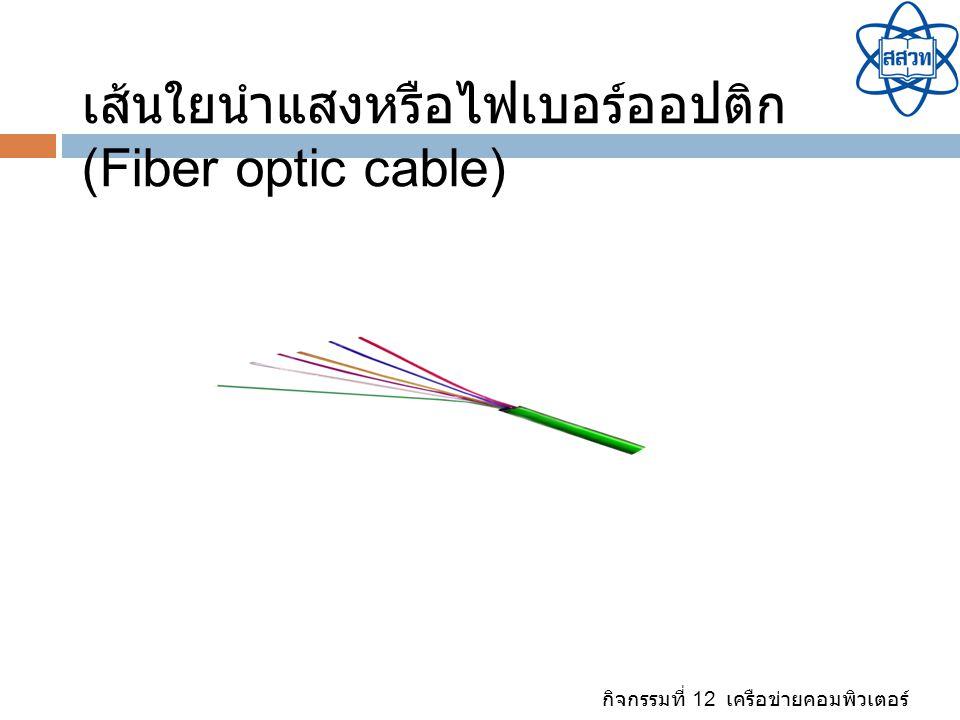 เส้นใยนำแสงหรือไฟเบอร์ออปติก (Fiber optic cable)