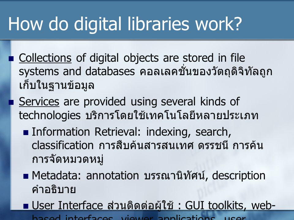How do digital libraries work
