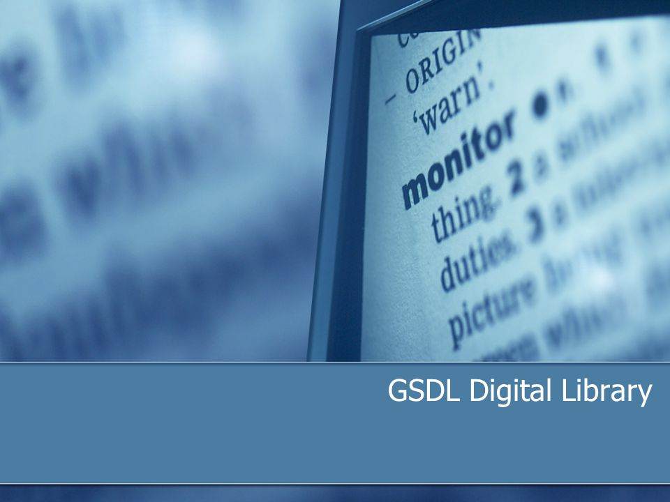 GSDL Digital Library