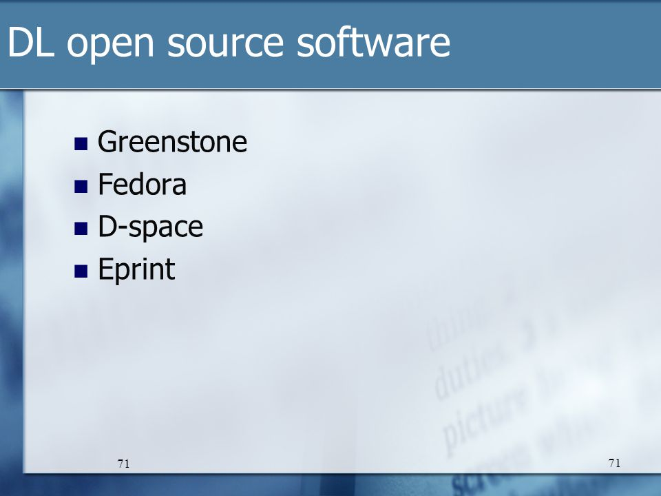 DL open source software