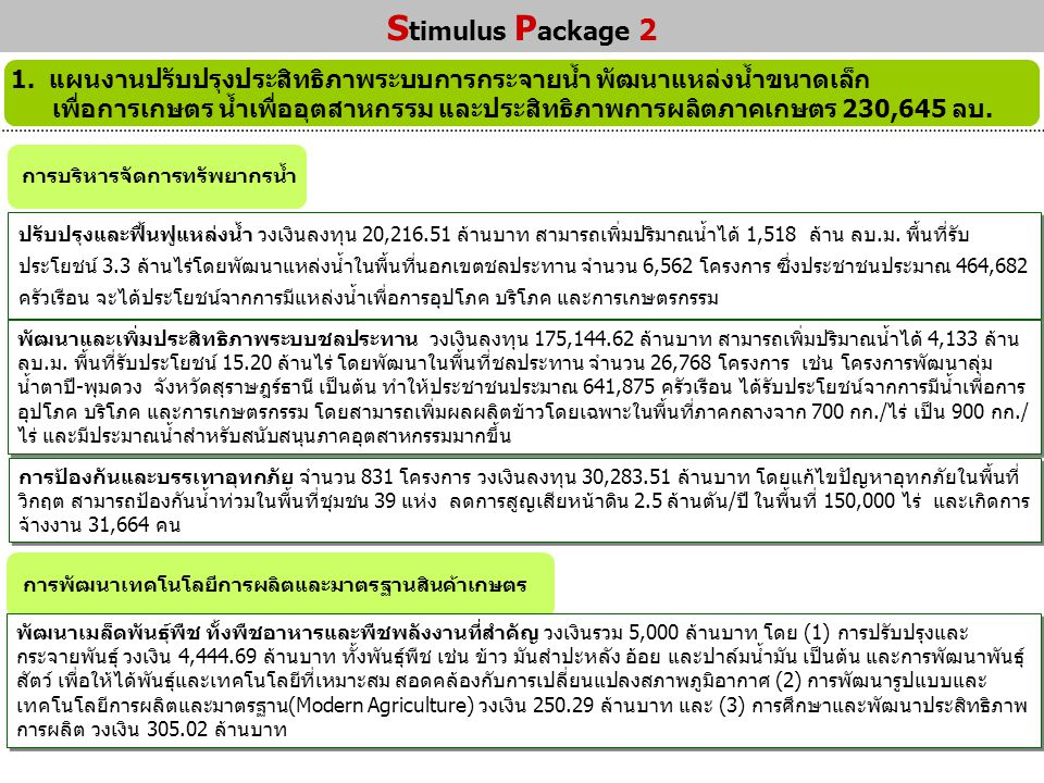 Stimulus Package 2