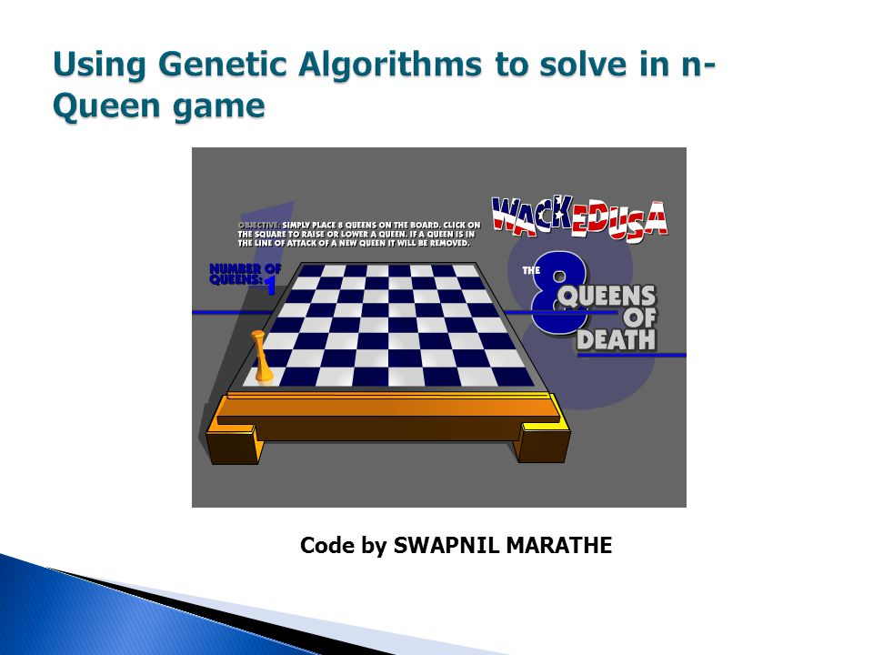 Using Genetic Algorithms to solve in n-Queen game