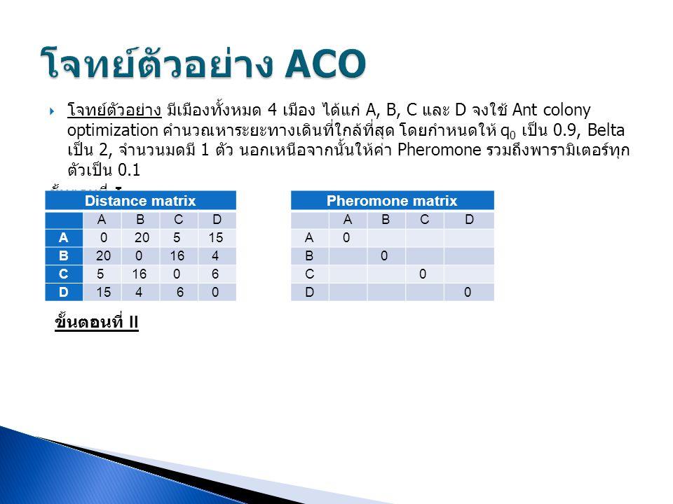 โจทย์ตัวอย่าง ACO