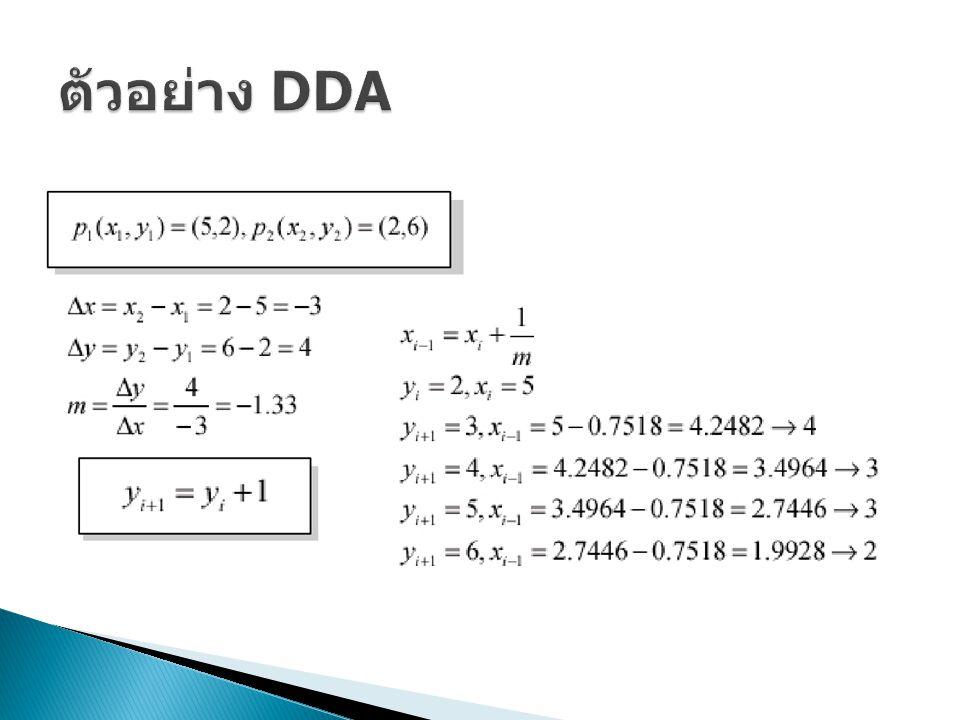 ตัวอย่าง DDA