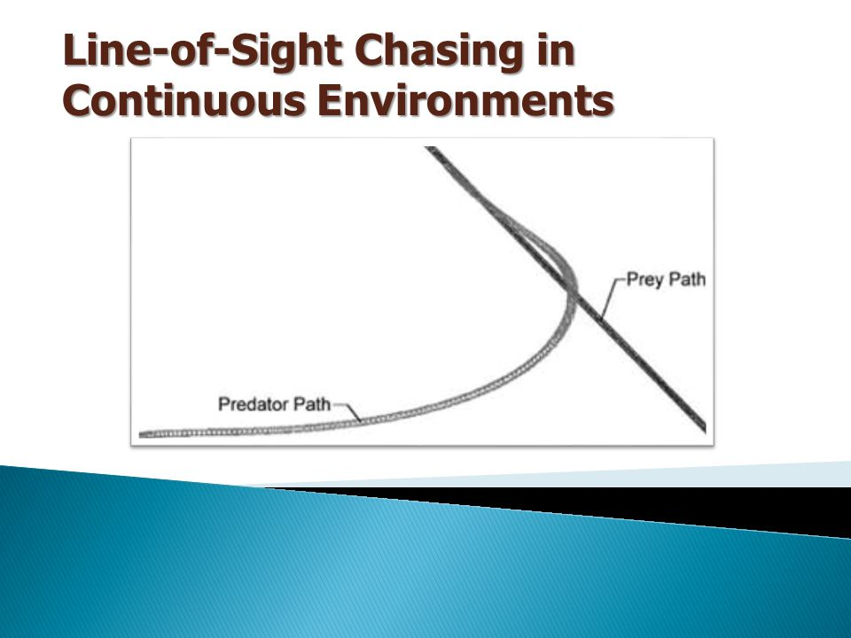 Line-of-Sight Chasing in Continuous Environments