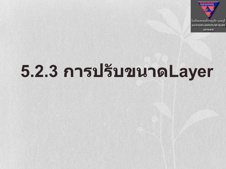 5.2.3 การปรับขนาดLayer