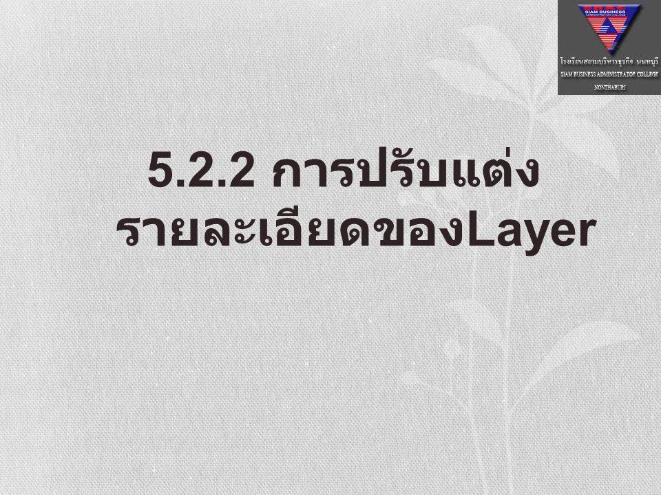 5.2.2 การปรับแต่งรายละเอียดของLayer