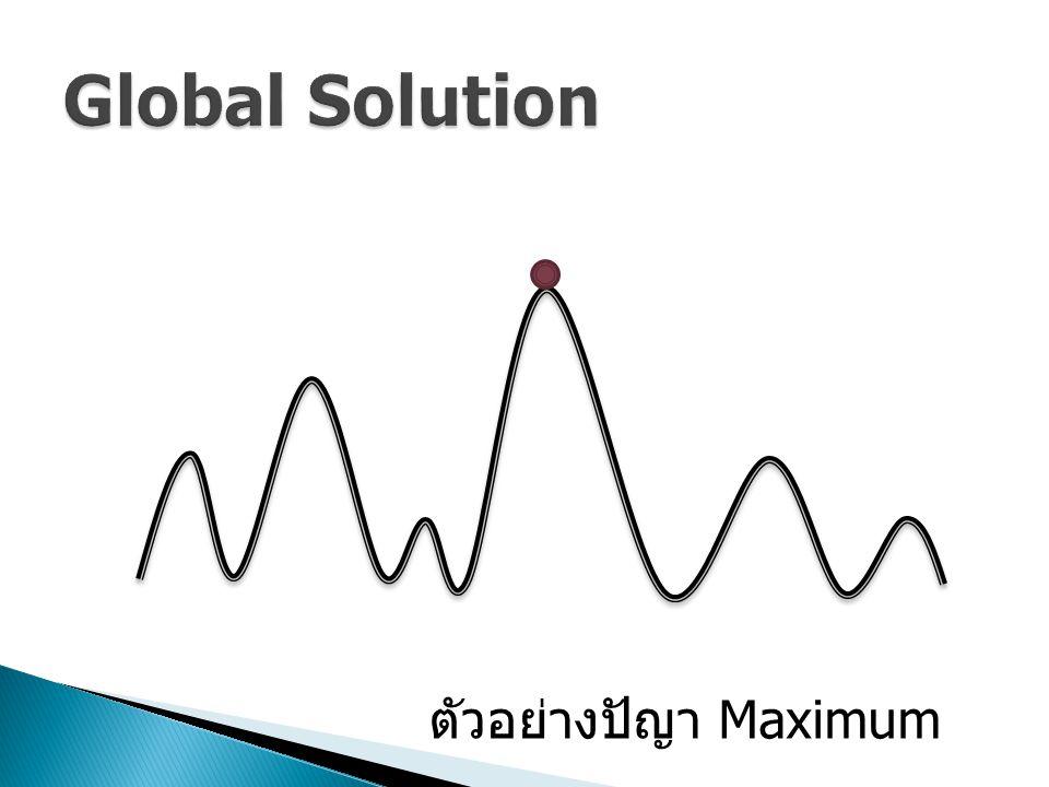 Global Solution ตัวอย่างปัญา Maximum