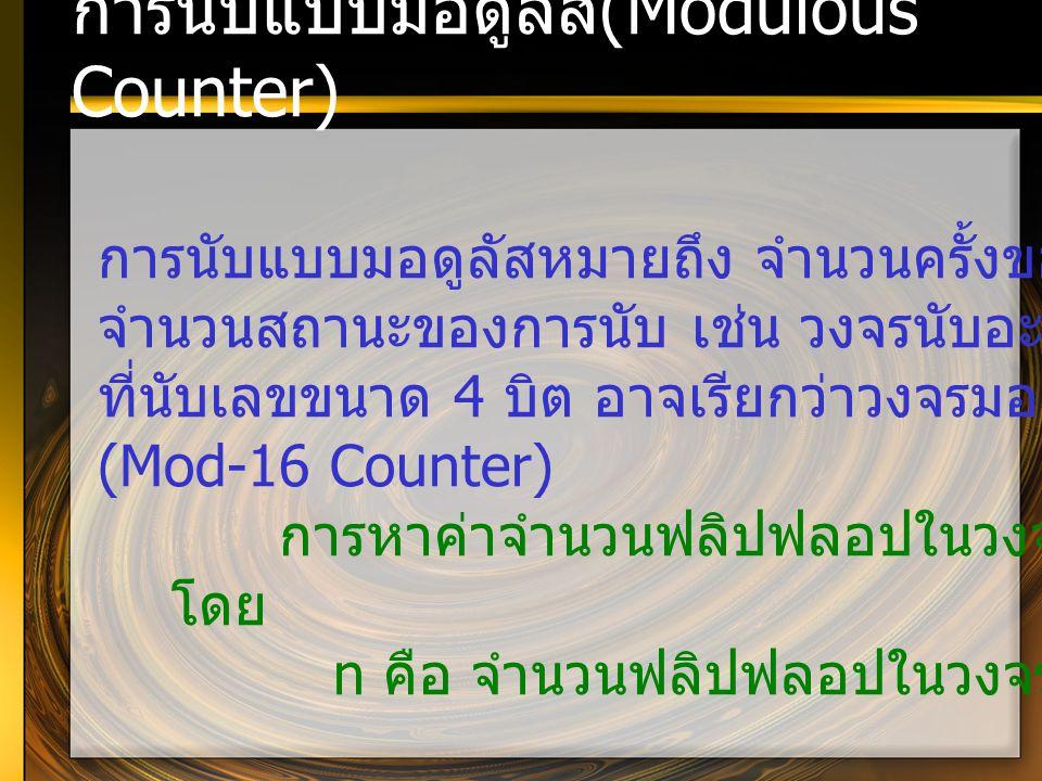 การนับแบบมอดูลัส(Modulous Counter)