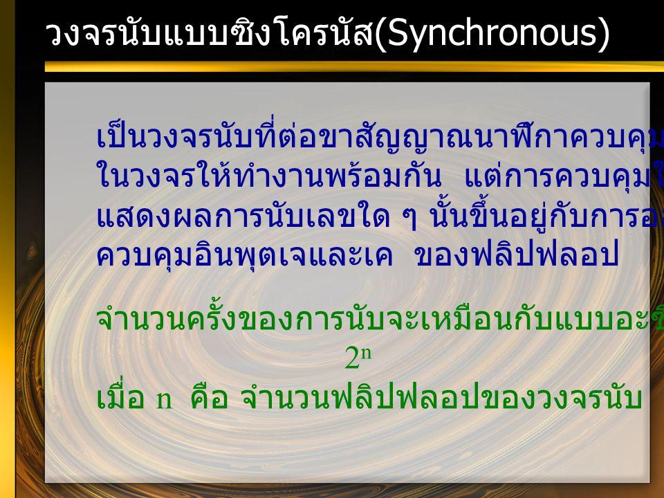 วงจรนับแบบซิงโครนัส(Synchronous)